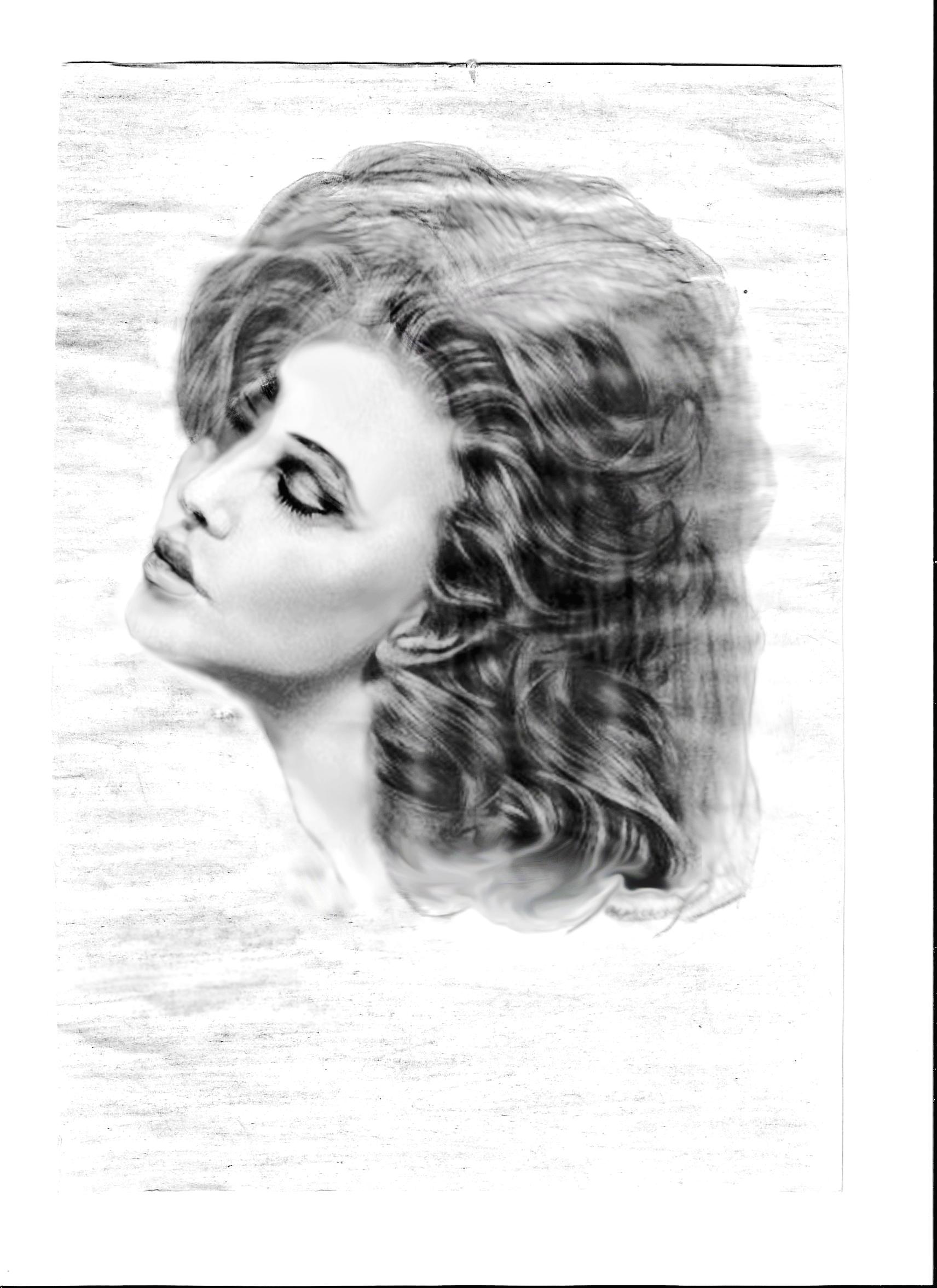 Рисунок девушки карандашом